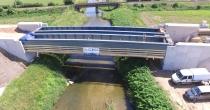 Schwechatbrücke eingehoben